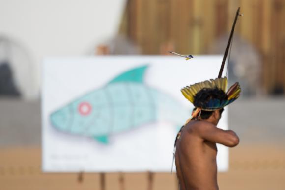 Segundo dia de competições com arco e flecha nos Jogos Mundiais dos Povos IndígenasMarcelo Camargo/Agência Brasil