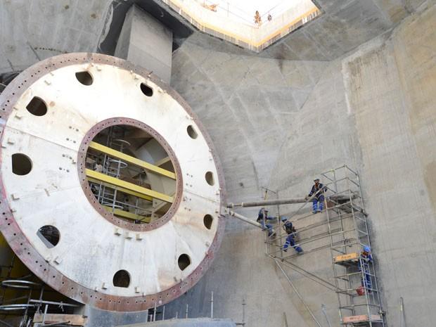 Obras do chamado Sítio Pimental, casa de força complementar de Belo Monte.  (Foto: Divulgação/Norte Energia)