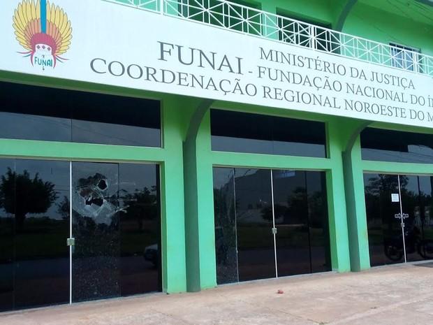 Sede da Fundação Nacional do Índio (Funai), na cidade de Juína (MT) (Foto: Laysson Carvalho/JNMT)