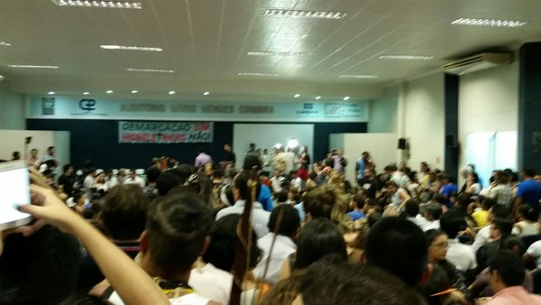 Auditório onde ocorreu a audiência. Foto: Thaís Iervolino/ Amazônia.org
