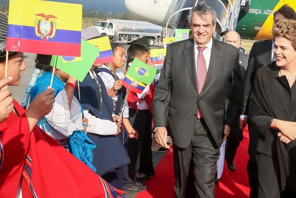 Presidenta Dilma Rousseff na chegada ao Equador para a reunião da Celac Roberto Stuckert Filho/PR