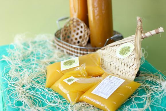 Tucupi embalado em saco plástico, pronto para distribuiçãoLana Santos/Fapeam
