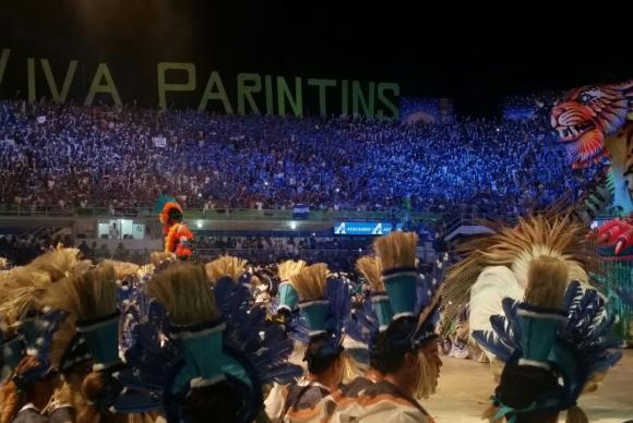 A diversidade cultural da amazônia foi representada na arena com alegorias, músicas, personagens, iluminação e vestimentasBianca Paiva/Agência Brasil