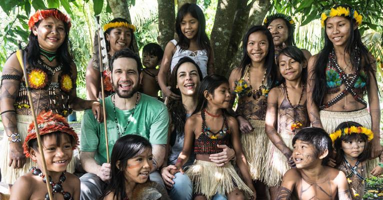 Caco Ciocler e Luisa Micheletti: viagem à Amazônia (Rogério Assis/ Greenpeace)