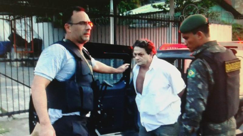 prisão do acusado Marcelo Carneiro, que já foi solto/Foto: Polícia Federal