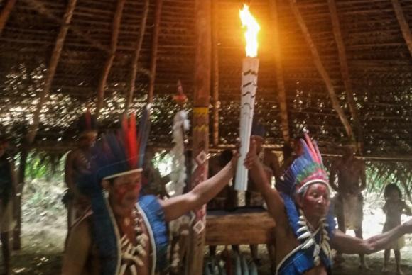 Comunidades tradicionais no Amazonas recebem a Tocha OlímpicaBianca Paiva/Agência Brasil