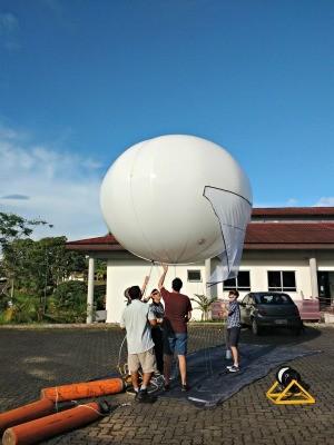 Balão pode ser instalado em qualquer lugar (Foto: Arquivo Pessoal/ Josinaldo Modesto)