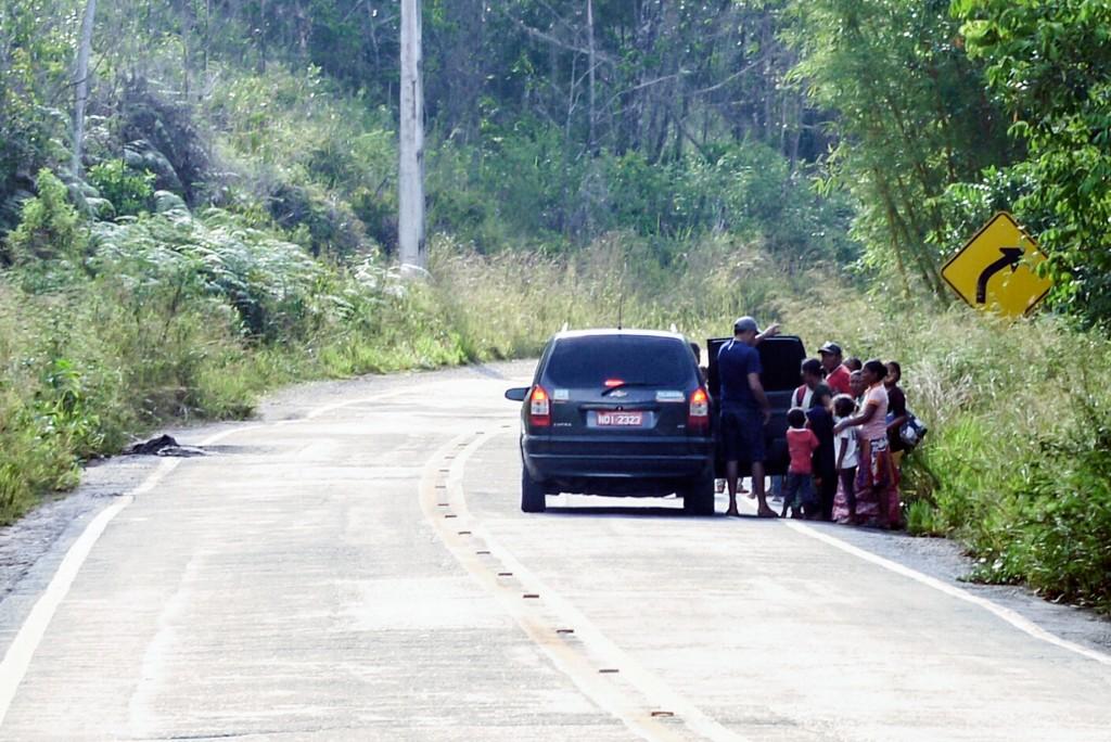 Em Pacaraima índios Warao cruzam a fronteira com a Venezuela (Foto: Marcelo Mora/Amazônia Real)