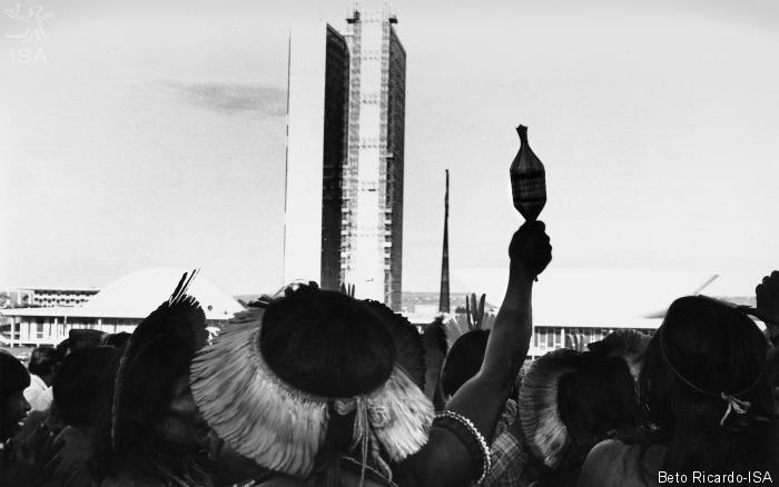 Índios comemoram a inclusão de seus direitos territoriais na Constituição de 1988|Beto Ricardo-ISA