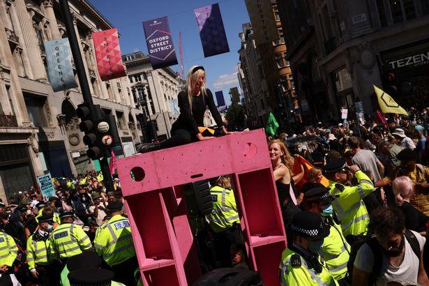 Bristol's Extinction Rebellion activists target Brazil in London protest